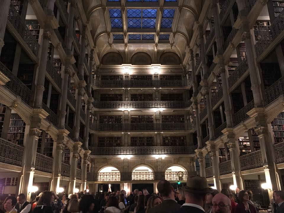 atrium of Peabody Library in Baltimore