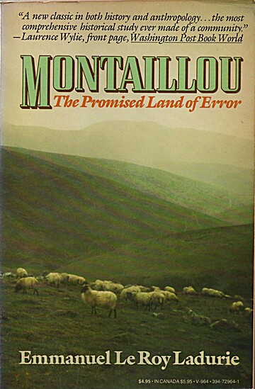 Book cover showing sheep in a field